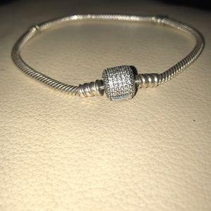 Pandora Bracelet With Diamond Charm